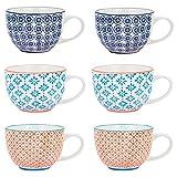 Nicola Spring Gemusterte Cappuccino, Kaffee, Tee Tassen...